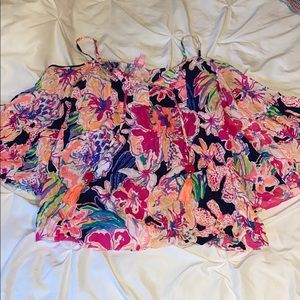 Lilly Pulitzer cut out shoulders top
